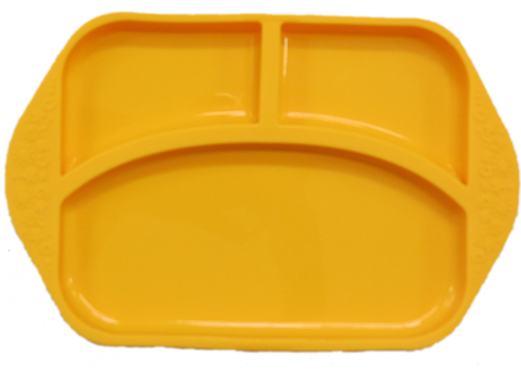 Divided Plate Yellow Giraffe