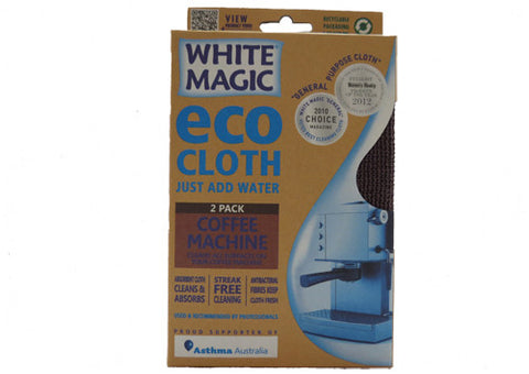 Eco Cloth White Magic Coffee Machine