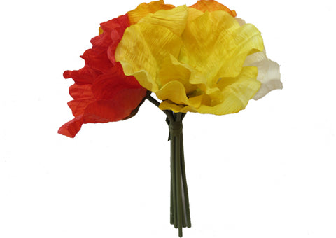 Flowers - Poppy Bouquet Pink Yellow