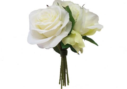 Flower Bouquet - Rose Cream White