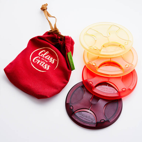Glass on the Grass Coaster Set - Wine Lovers Collection