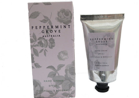Hand Cream Peppermint Grove Patchouli & Bergamot