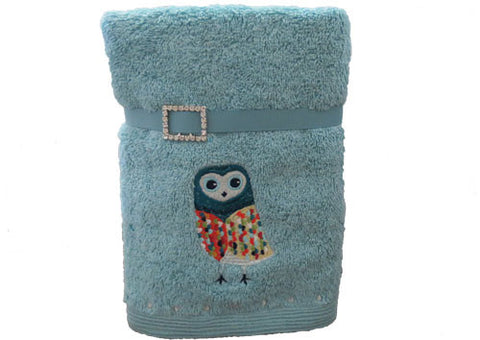Hand Towel Set of 2 Exotic Owl