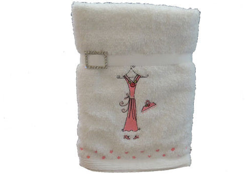 Hand towel set of 2 Pink Dresses