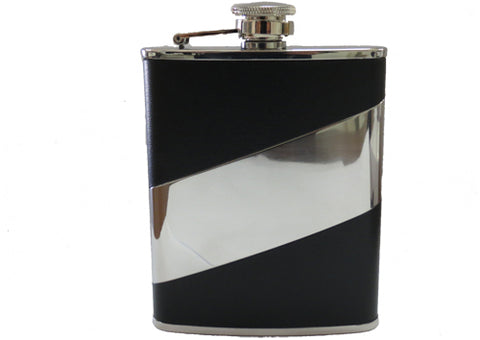 Hip flask leather mirror