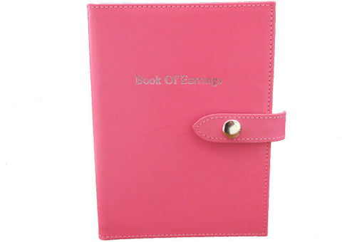 Little Book of earrings hot pink