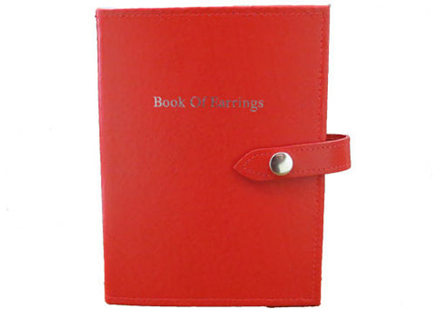 Little book of earrings red