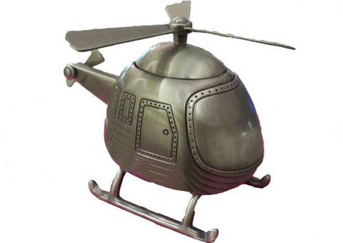 Money Box Pewter Helicopter