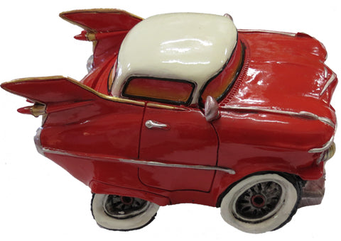 Money box red cadillac