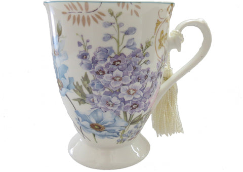 Mug Cone Shape Boxed- Blue Flower