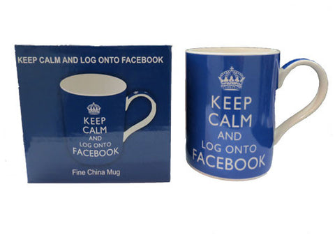 Mug Keep Calm and logon to Facebook