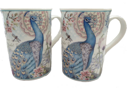 Mug x 2 Peacocks