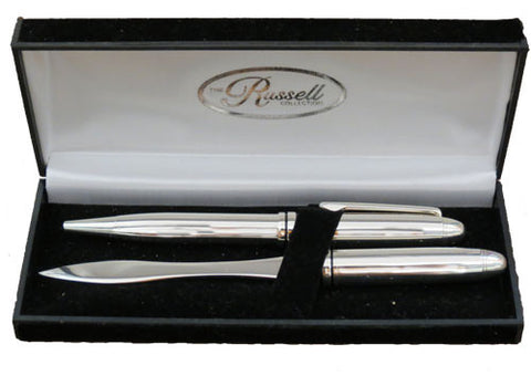 Pen and Letter Opener Silver