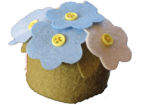 Pin Cushion Primrose Blue