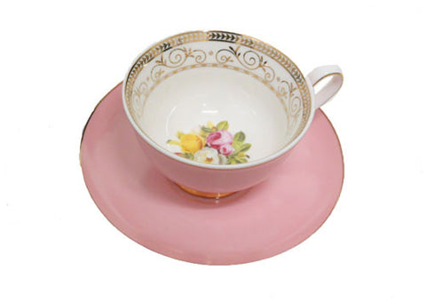 Pink Cup and Saucer Set - Vintage Royale