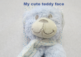 Rattle soft - Teddy Blue