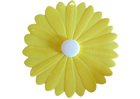 Silicone Lid Daisy Yellow