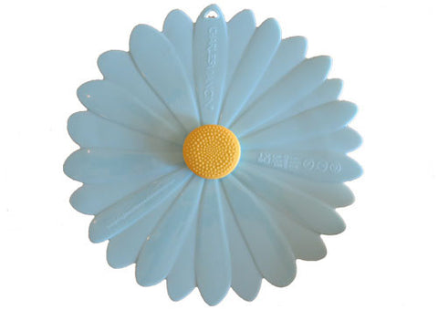 Silicone Lid Daisy Blue