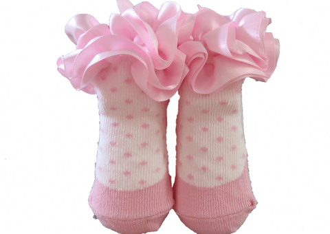 Socks Baby - Pink Lace Frill
