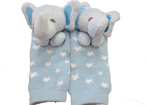 Socks with Rattlin' Toes - Elephant