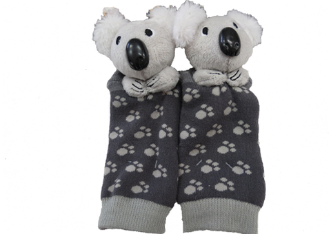 Socks with Rattlin' Toes - Koala