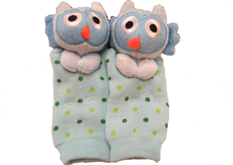 Socks with Rattlin' Toes - Blue Owl