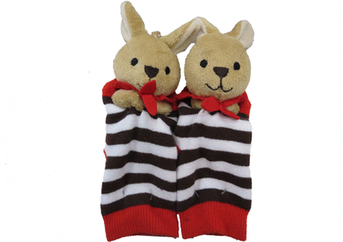 Socks with Rattlin' Toes - Red Kangaroo