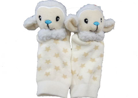 Socks with Rattlin' Toes - Sheep