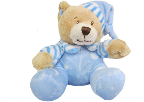 Rattle - Baby Bear Blue