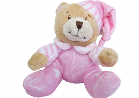 Soft Toy Baby Bear Pink Rattle