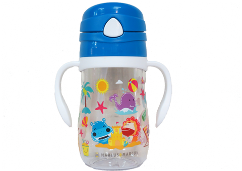 Straw Bottle Lucas Blue