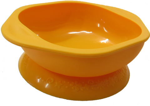 Suction Bowl - Yellow Giraffe