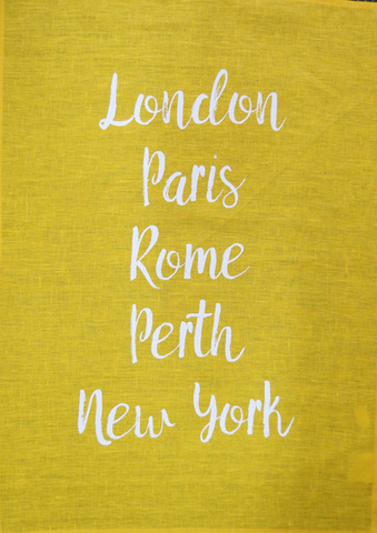 Tea-Towel-Perth-World-Cities-Yellow
