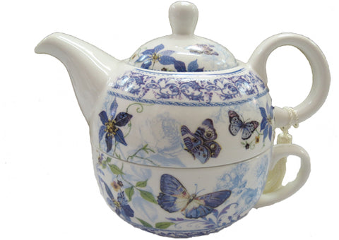 Tea for One - Blue Butterfly