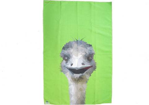 Tea Towel Microfibre - Emu Green