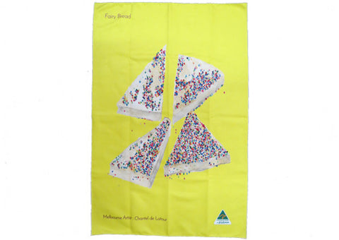 Tea Towel Fairy Bread Hot Yellow