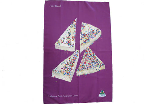 Tea Towel Fairy Bread Violet