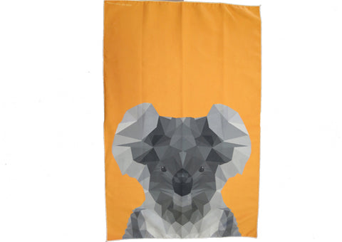 Tea Towel Microfibre - Koala Orange