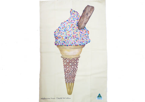 Tea Towel Microfibre - Mr Whippy Yellow