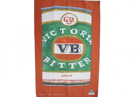 Tea Towel Microfibre - VB Burnt Red