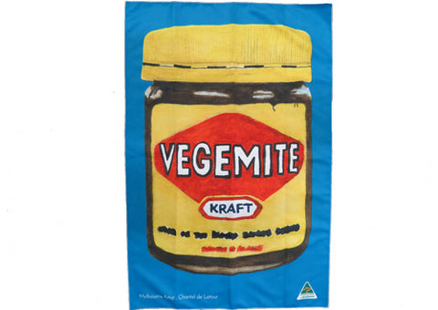 Tea Towel Microfibre Vegemite Cyan