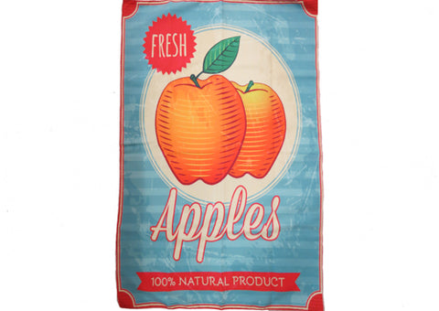 Tea Towel Microfibre - Vintage Apple