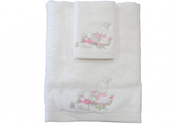 Towel and Face Washer Set Girl Rabbit