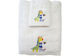 Towel and Face Washer Set Zebra and Giraffe