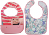 Travel Bib Pokey Pink