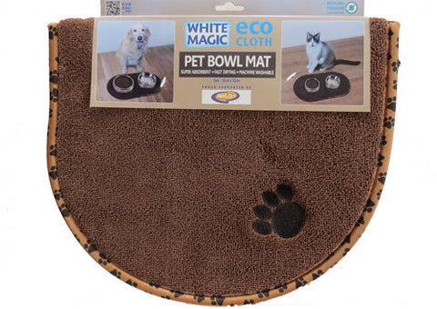 White Magic Pet Bowl Mat