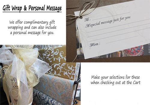 Gift wrap message