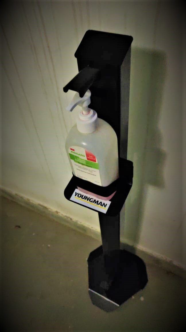 The Paddle  - Foot Operated Hand Sanitizer Stand