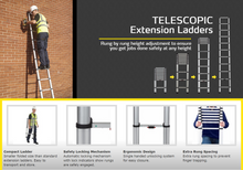 Load image into Gallery viewer, Youngman Smart Telescopic Extension Ladder