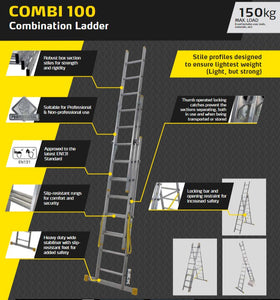 Youngman 3 way extension heavy duty Combination ladder